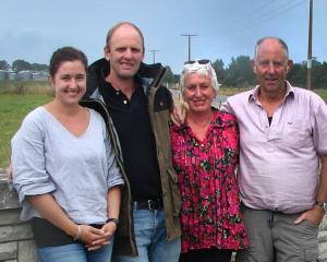 Maheno's McNallys (from left) Bridget and James, who farm with Kathrin and Ray, are finalists in...