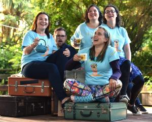 The Fringe Mental Notes performers (from left) are Laura Wells, Vincent Batt, Gabby Golding,...