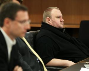 Kim Dotcom attending a court hearing. Photo: Getty Images