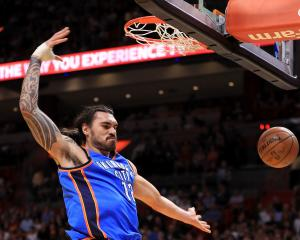 Steven Adams had a dominant match in his return for the OKC against the Clippers today. Photo:...