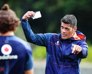 Head coach Stephen Kearney at a recent Warriors training session at Mt Smart Stadium in Auckland....