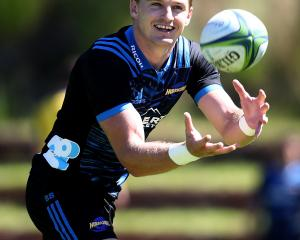 Beauden Barrett is all smiles ahead of his 100th games for the Hurricanes. Photo: Getty Images