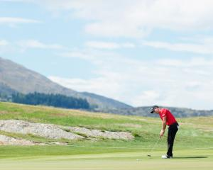 Australian Daniel Nisbet in action during his final round -9 today. Photo: Getty Images