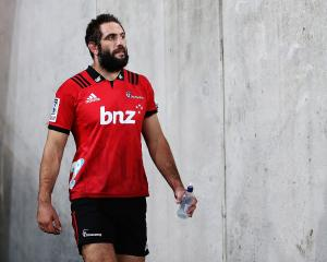 Sam Whitelock was concussed early in the match against the Hurricanes. Photo: Getty Images