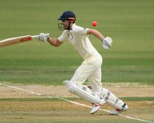 Former England captain Alaister Cook struggled against the pink ball in the warm-up game against...