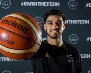 Shea Ili poses during the announcement of the Tall Blacks team for the Commonwealth Games at the...