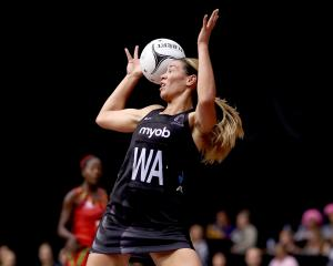 Grace Kara of the Silver Ferns loses the ball. Photo: Getty Images