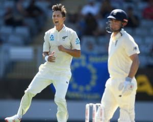 Trent Boult ripped through the England batting line-up to finish with his best figures in test...