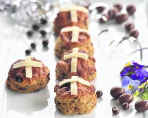 Hot cross scones. Photo: Peter McIntosh