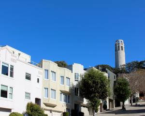 Coit Tower on Telegraph Hill.