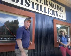 John and Suzie Elliot from Lammermoor Station at their distillery. Photo: Tim Fulton