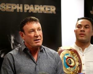 Kevin Barry (left) says Joseph Parker's (right) camp is happy with the officials for his fight...
