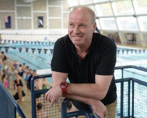 New Dunedin swim coach Lars Humer at Moana Pool on Thursday. Photo: Linda Robertson