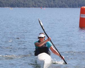 IMG 2831: Lisa Morrison of Nelson doing the Kayak leg in the 8 hour Enduro Solo. Photo: Julie Walls