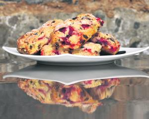 Nectar Cafe's strawberry, cardamom and dark chocolate scones. Photo: supplied