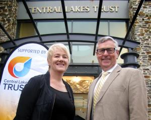 Central Lakes Trust chief executive Susan Finlay and chief executive Tony Hill display the trust...