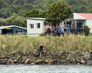 Members of the Newhaven community celebrate more than a quarter century of the coastal wall that...