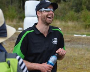 Andrew Wiffen takes a breather during last year's Young Farmer of the Year Tasman region final....