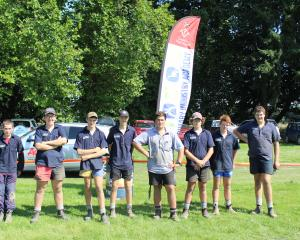 Geraldine High School pupils (from left) Blake Roberts, Ben Chambers, Patrick Foley-Smith, Jacob...