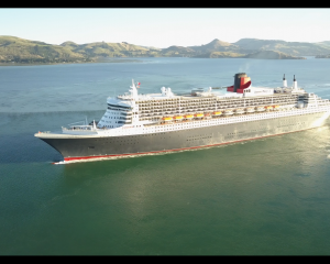 Aerial shots of Queen Mary 2