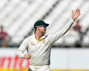 Steven Smith (capt) of Australia during day 2 of the 3rd Sunfoil Test match between South Africa...