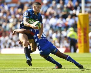Sonny Bill Williams of the Blues in action during the Super Rugby match with the Stormers. Photo:...