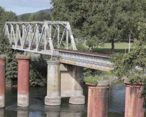 The rail bridge at Ngāruawāhia, where two children have died after being struck by trains. Photo:...