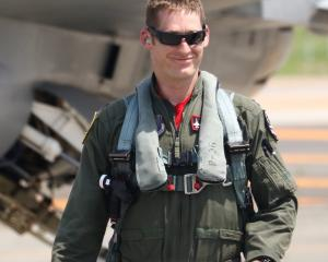 US Air Force F-16 pilot Richard Smeeding. PHOTO: SUPPLIED