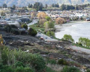 Lakeside Rd is closed by a mudslide from the Marina Terrace Apartments construction site last...