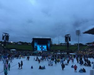 Gloomy, wet weather Auckland's Ed Sheeran concert. Photo: NZME