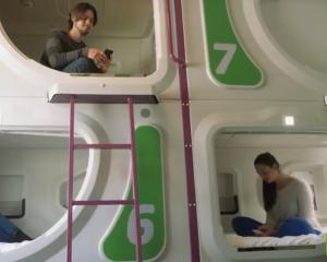 "Rooms accommodate eight travellers in a ""bunk room"" style configuration. Photo: YouTube"