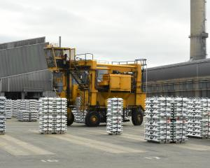Rising aluminium prices mean the Tiwai Point smelter is unlikely to close any time soon. Photo:...