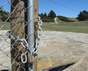 After this locked gate was erected, mountain bikers and walkers started asking if it meant they...