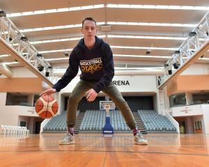 Darcy Knox, at the Edgar Centre yesterday before Otago's match against the Southland Sharks today...