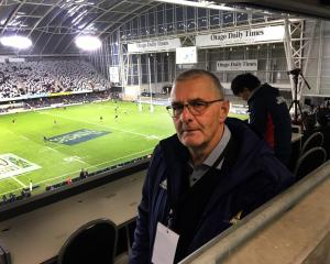 Dave Barnett at Forsyth Barr Stadium last weekend where the Highlanders beat the Brumbies. Photo:...