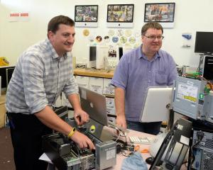 University of Otago desktop support specialists Matt Hall  and Simon Hogh have recycled hundreds...