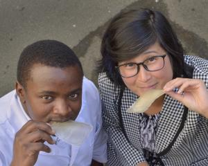 University of Otago food science PhD student Stephen Giteru  and head of department Prof...