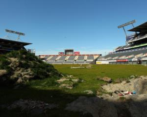 Christchurch's Lancaster Park was damaged beyond repair in the 2011 earthquake. Photo: Getty