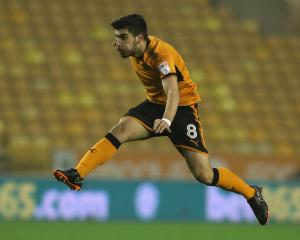 Stand-out player Ruben Neves of Wolverhampton Wanderers in action against Derby County. Photo:...