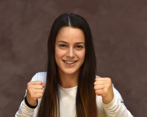 New Zealand Shuriken amateur strawweight champion Hannah Dawson at the Olympic Gym in Dunedin...