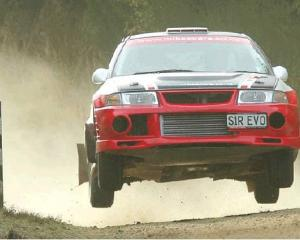 Mike Wellington competes in the 2011 Otago Rally