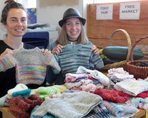 Displaying some of the free and low-cost goods given for the Tokomairiro Community Hub's Monday...