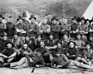 A group of Otago boys in A Company at the 39th Reinforcements segregation camp at Trentham. —...