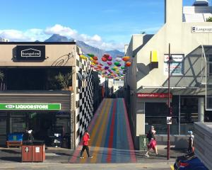 An artist's rendering shows what Queenstown's Cow Lane may look like in the future after the...