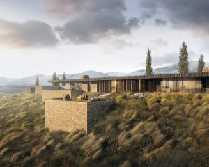 An artist's impression of the proposed Hogans Gully golf course clubhouse, designed by Auckland...