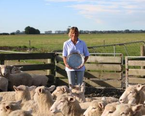 Debbie Millar with the trophy she recently won with her husband, Alastair, during the Temuka and...