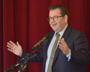 Finance Minister Grant Robertson speaks at an Otago Chamber of Commerce lunch. Photo: Gerard O'Brien