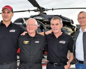 ICU nurse Peter van Tuel (second left) with pilot Clayton Girven (from left), paramedic Ian...