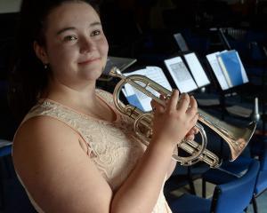 Kaikorai Metropolitan Brass Band member Simone Arbuckle (20) is one of several Dunedin musicians...