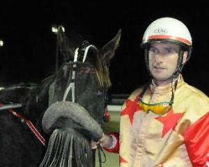 Vi Et Animo and Brent Shirley after success in the $25,000 Forbury Park Championship on Thursday...